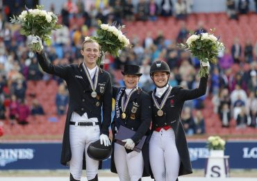 Sitting with the Queen: Young Guns Sönke Rothenberger, Cathrine Dufour Share Podium with Isabell Werth at European Dressage Championships